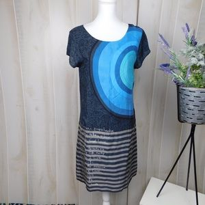 Desigual Grey Patterned Shift Dress